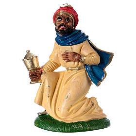 Estatua Rey Mago Gaspar 10 cm de altura media pvc s1