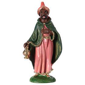 Estatua Rey Mago Baltasar 10 cm de altura media pvc s1