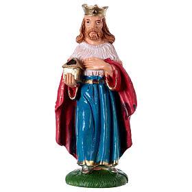 Estatua Rey Mago Melchor 10 cm de altura media pvc s1