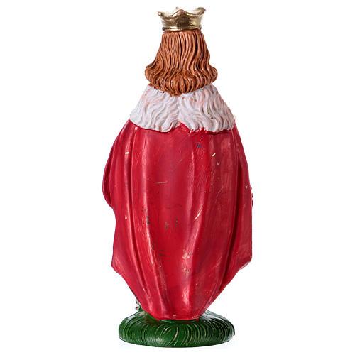 Estatua Rey Mago Melchor 10 cm de altura media pvc 2