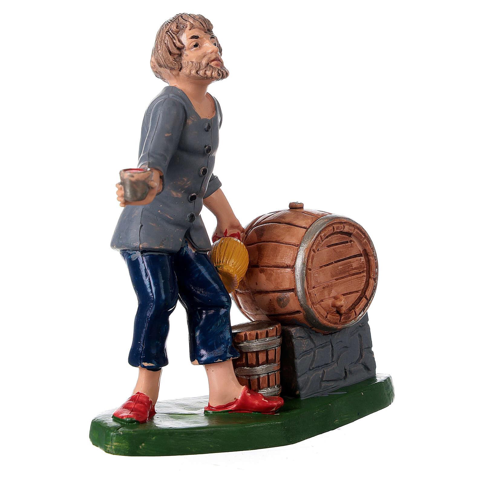 Peça taberneiro com casco garrafa e copo 10 cm pvc 3