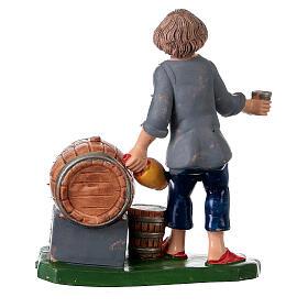 Peça taberneiro com casco garrafa e copo 10 cm pvc s4