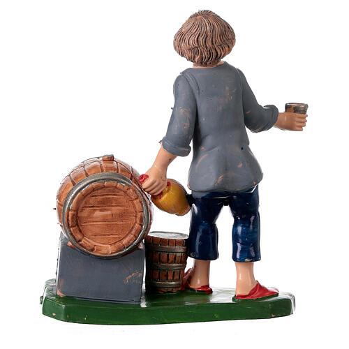 Peça taberneiro com casco garrafa e copo 10 cm pvc 4
