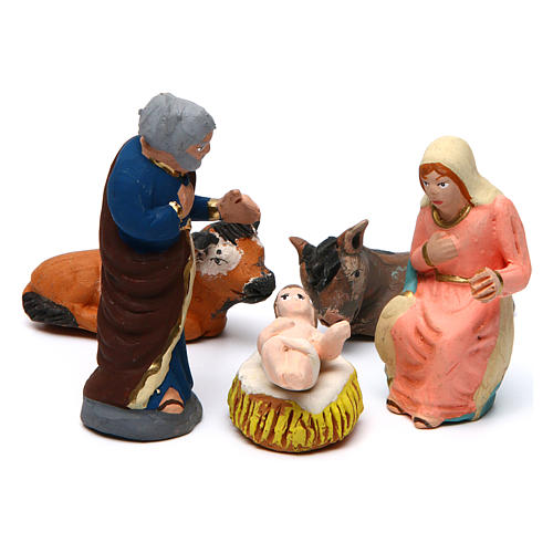 Nativity Scene 7 cm in terracotta 11 decorated pieces 2