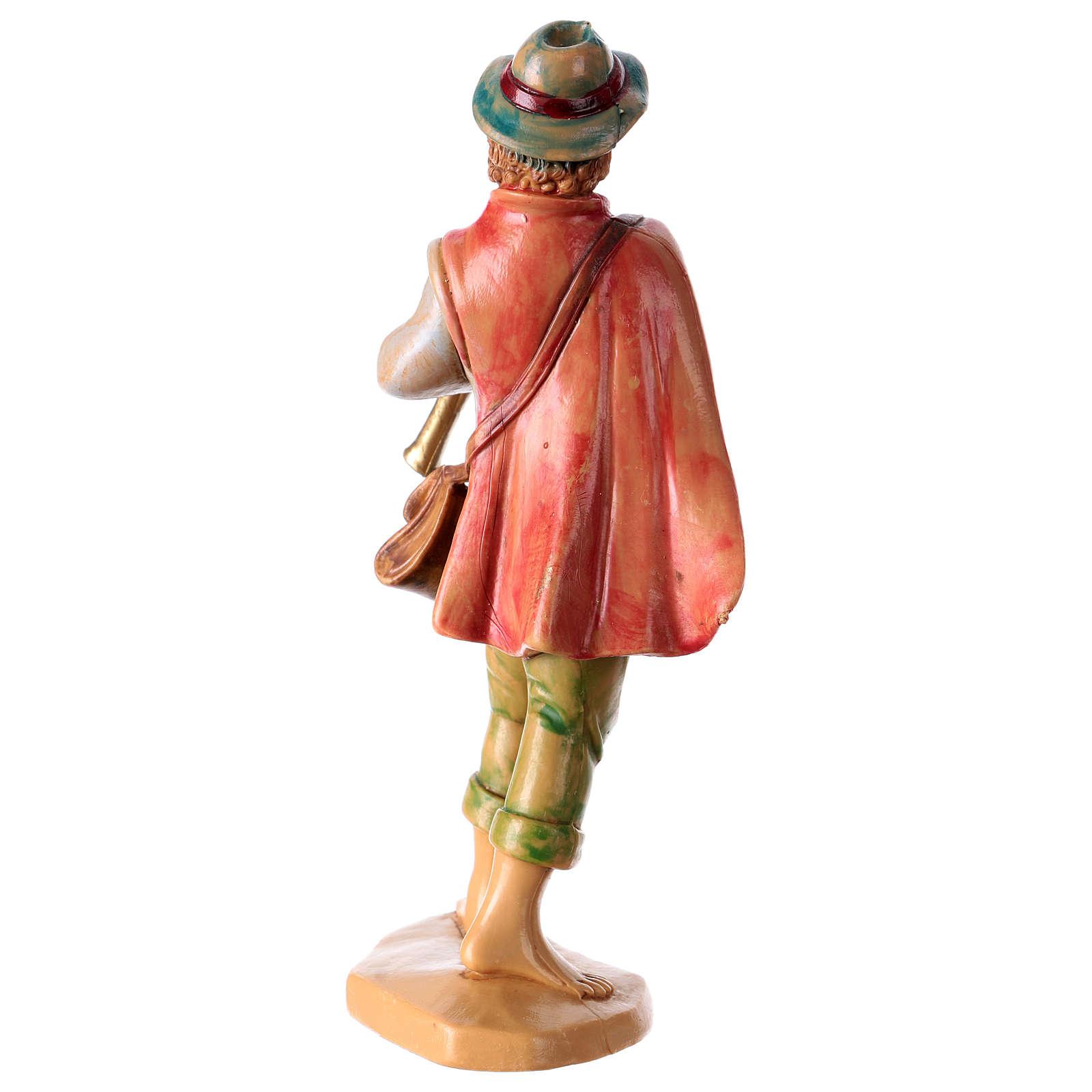 Hombre con flauta 16 cm de altura media para belén 3
