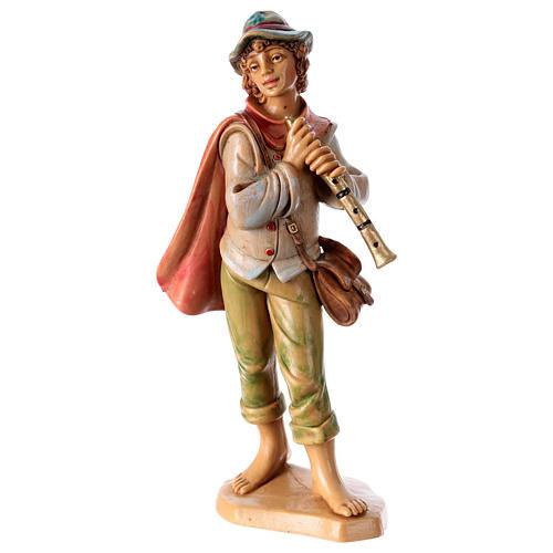Hombre con flauta 16 cm de altura media para belén 1