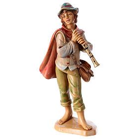 Santons crèche: Homme avec flûte 16 cm pour crèche