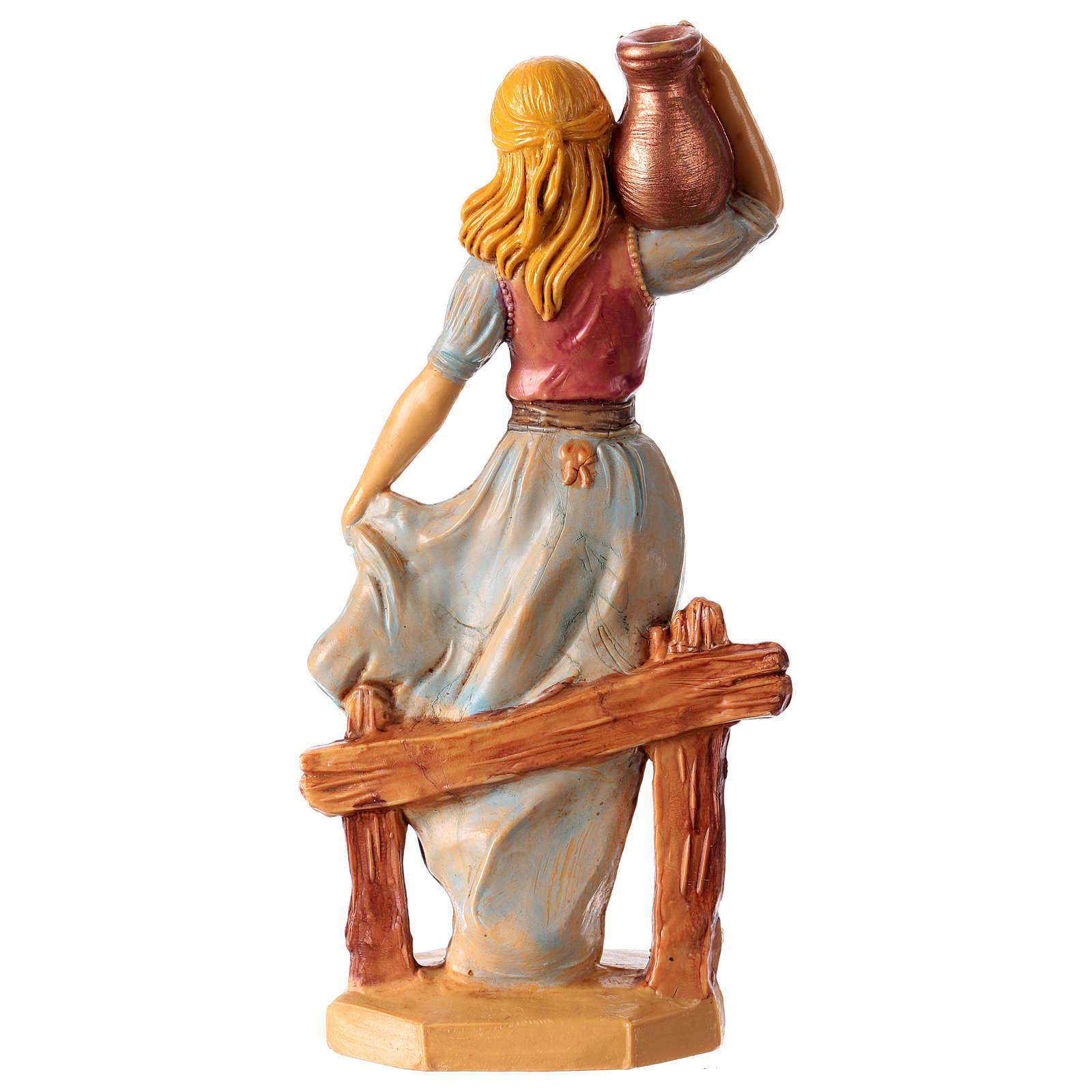 Mujer con jarrón 16 cm de altura media para belén 3