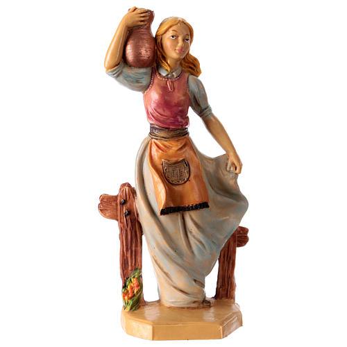Mujer con jarrón 16 cm de altura media para belén 1