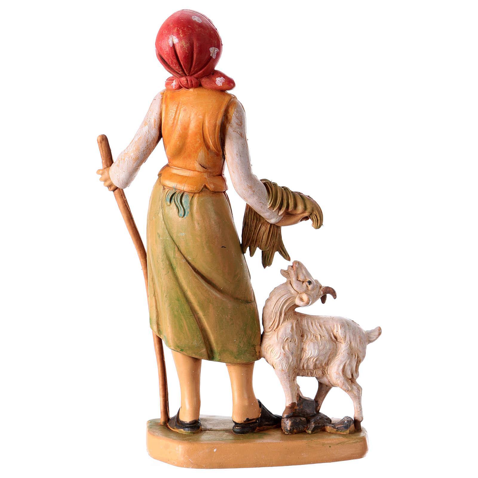 Donna con pecora 16 cm per presepe 3