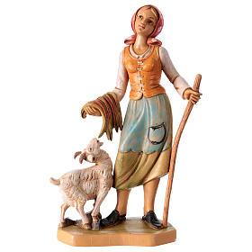 Donna con pecora 16 cm per presepe s1