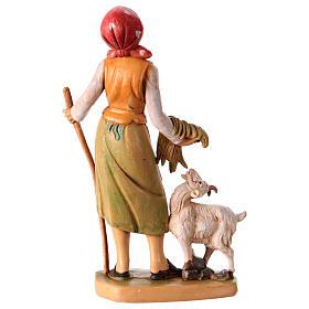 Donna con pecora 16 cm per presepe s2