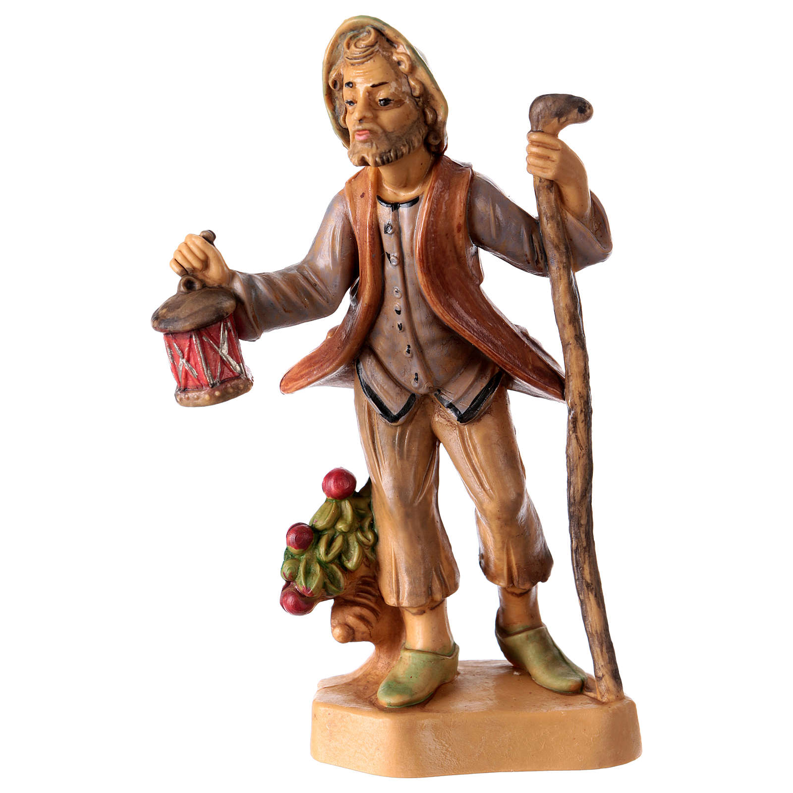 Man with lantern 12 cm for Nativity Scene 3