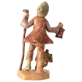 Man with lantern 12 cm for Nativity Scene s2