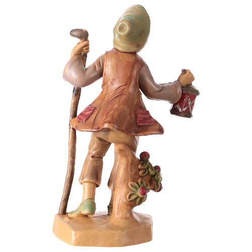 Man with lantern 12 cm for Nativity Scene 2