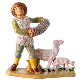 Man with accordion 10 cm for Nativity Scene s1