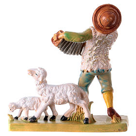 Man with accordion 10 cm for Nativity Scene s2