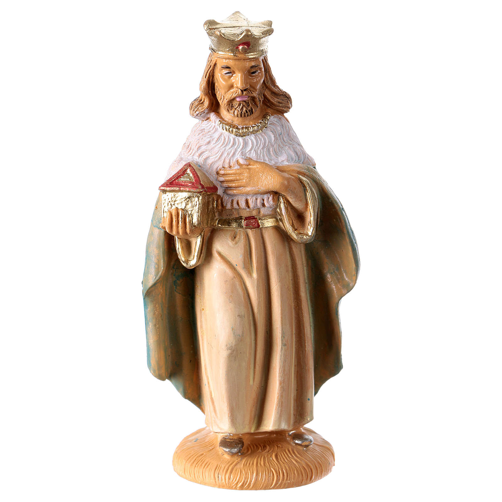 Statua Re Magio Melchiorre 10 cm per presepe 3