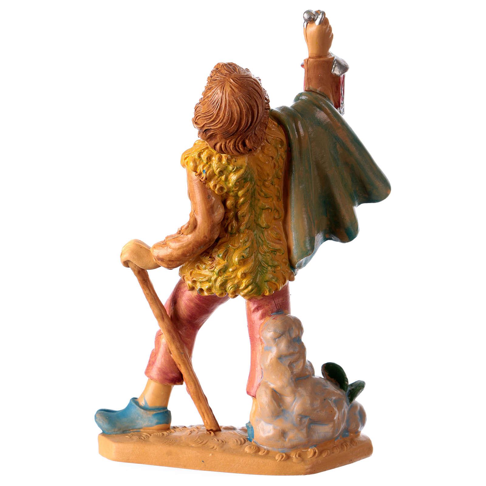 Estatua Hombre con linterna 10 cm de altura media para belén 3