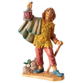 Estatua Hombre con linterna 10 cm de altura media para belén s1