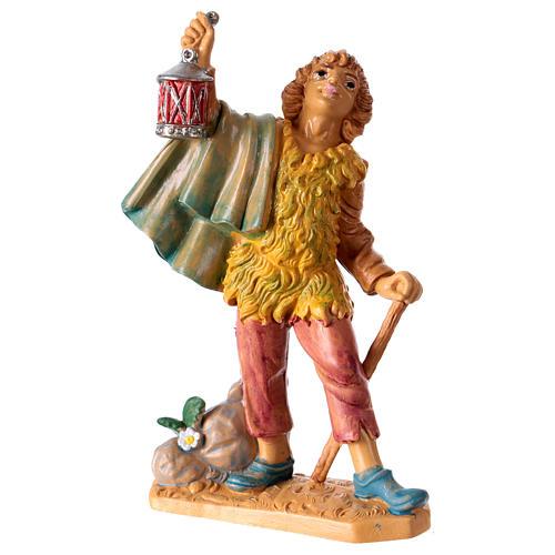 Estatua Hombre con linterna 10 cm de altura media para belén 1