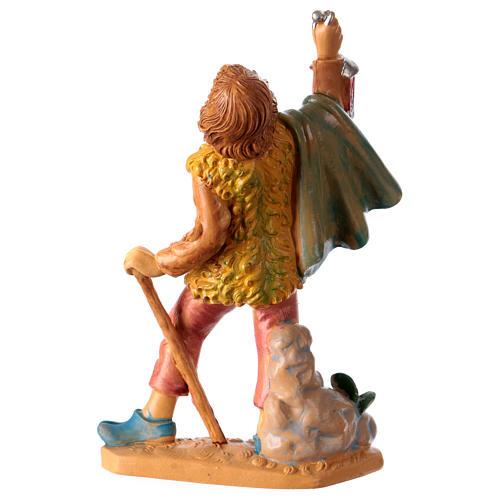 Estatua Hombre con linterna 10 cm de altura media para belén 2