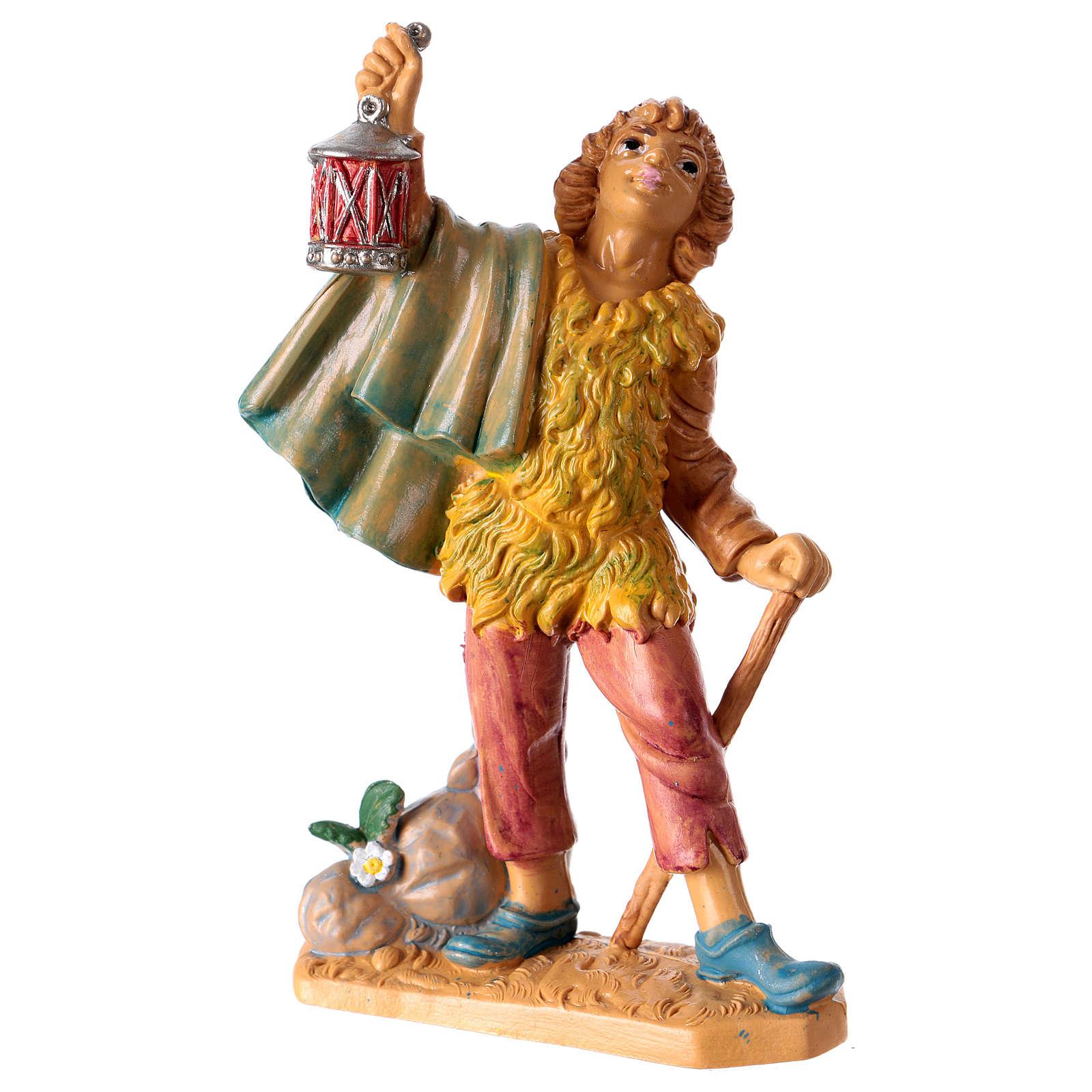 Statuina Uomo con lanterna 10 cm per presepe 3