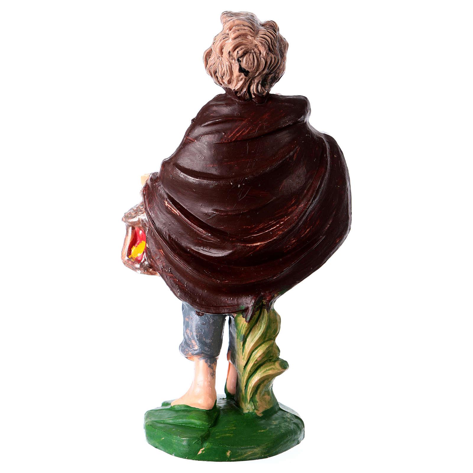 Estatua joven con linterna 10 cm de altura media para belén 3