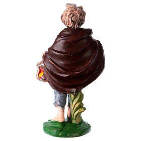 Estatua joven con linterna 10 cm de altura media para belén s2