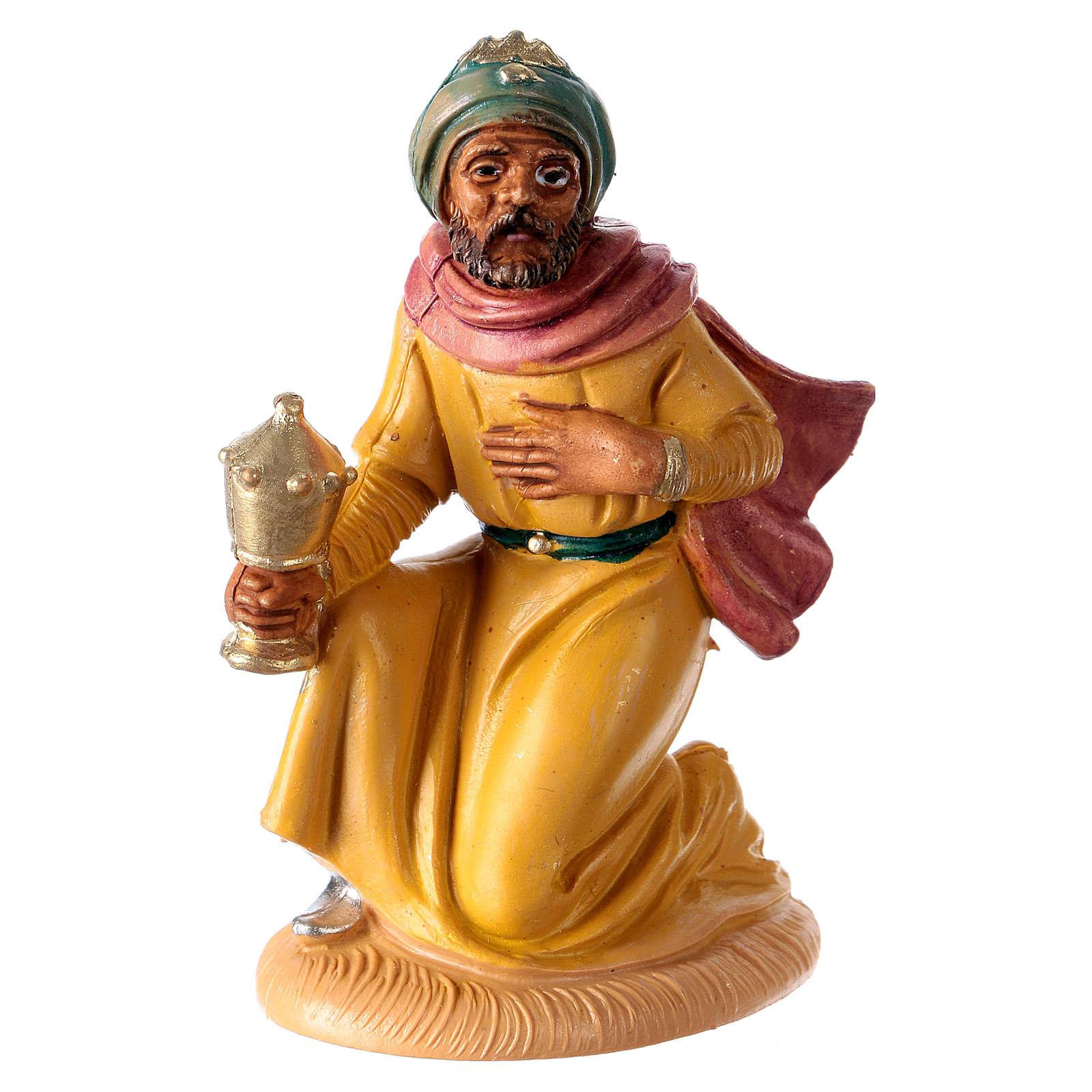 Statua Re Magio Gaspare 10 cm per presepe 3