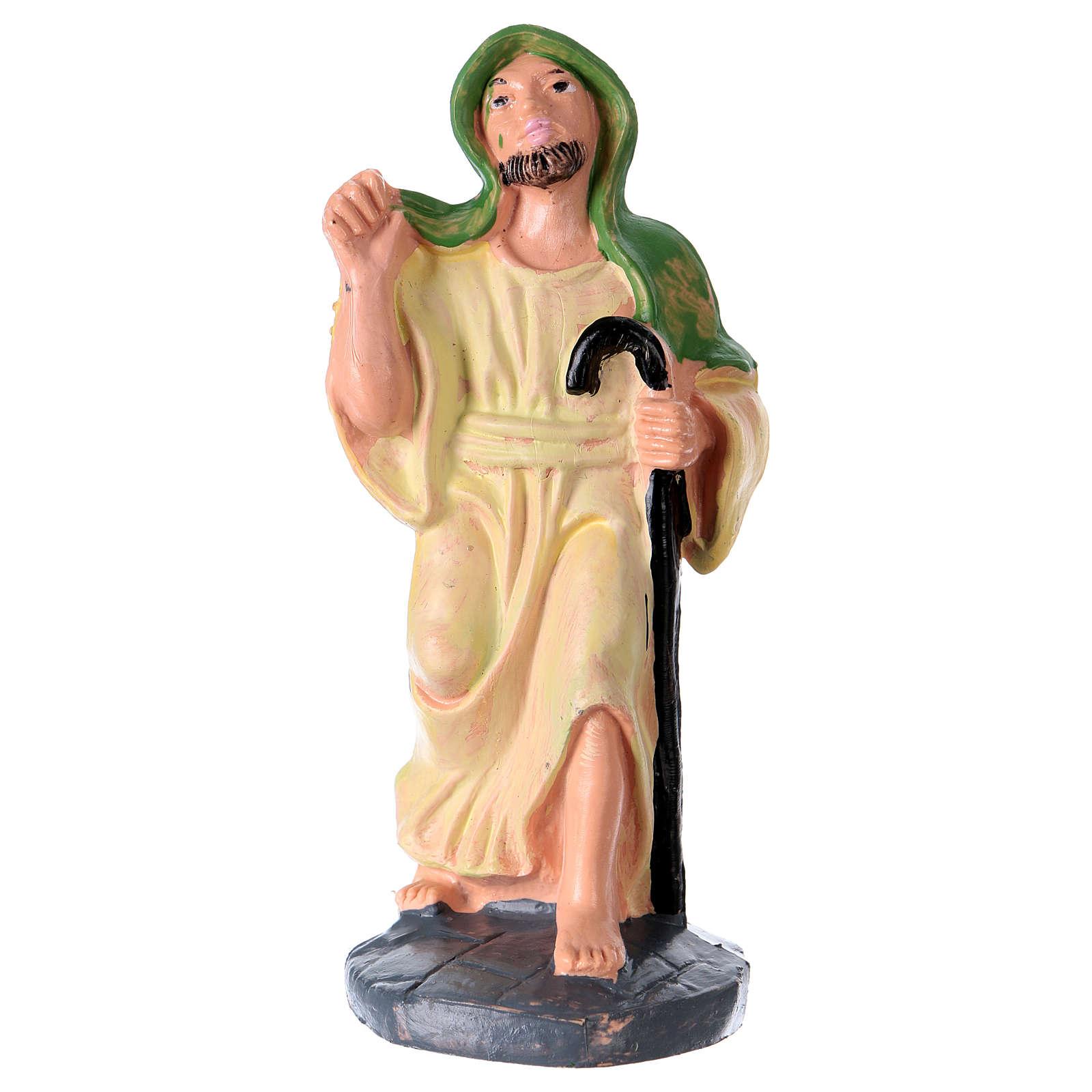 Statua Uomo con bastone 10 cm per presepe 3