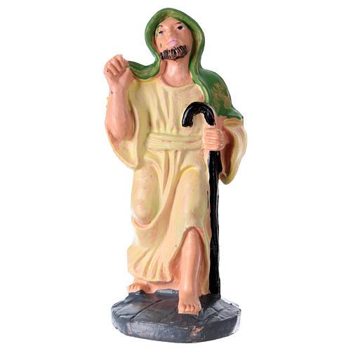 Statua Uomo con bastone 10 cm per presepe 1