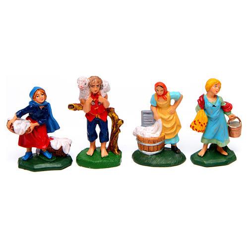 Pastori presepe 8 cm tipo legno set 19 modelli 4