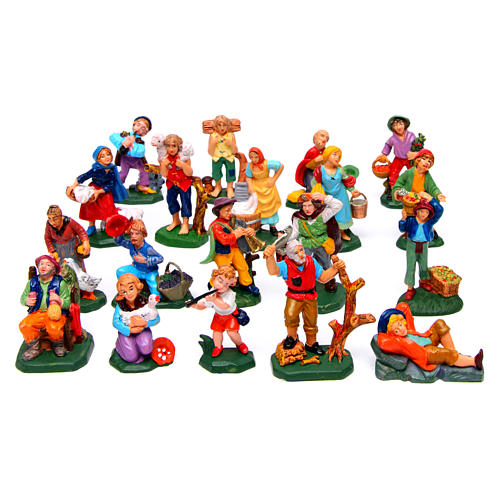 Figurines for Nativity Scene 8 cm, set of 19 1