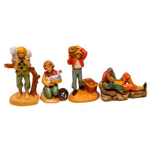 Bergers pour crèche 7 cm effet bois set 19 modèles 3