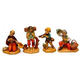 Wood finish figurines for Nativity Scene 7 cm, set of 19 s2