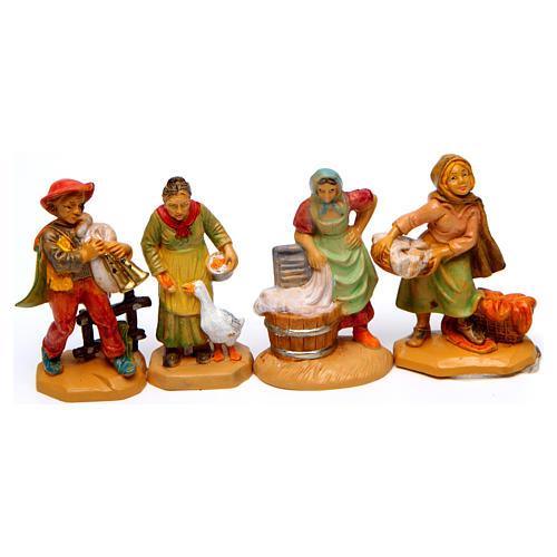 Wood finish figurines for Nativity Scene 7 cm, set of 19 4
