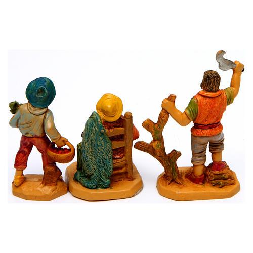Wood finish figurines for Nativity Scene 7 cm, set of 19 7