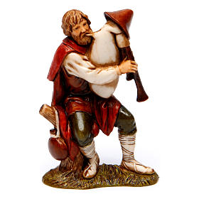 Bagpiper marveled man and Woman with Goat 8 cm Moranduzzo nativity s4