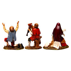 Bagpiper marveled man and Woman with Goat 8 cm Moranduzzo nativity s5
