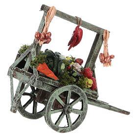 Cart with vegetables for Neapolitan Nativity Scene 15x15x6 cm s2