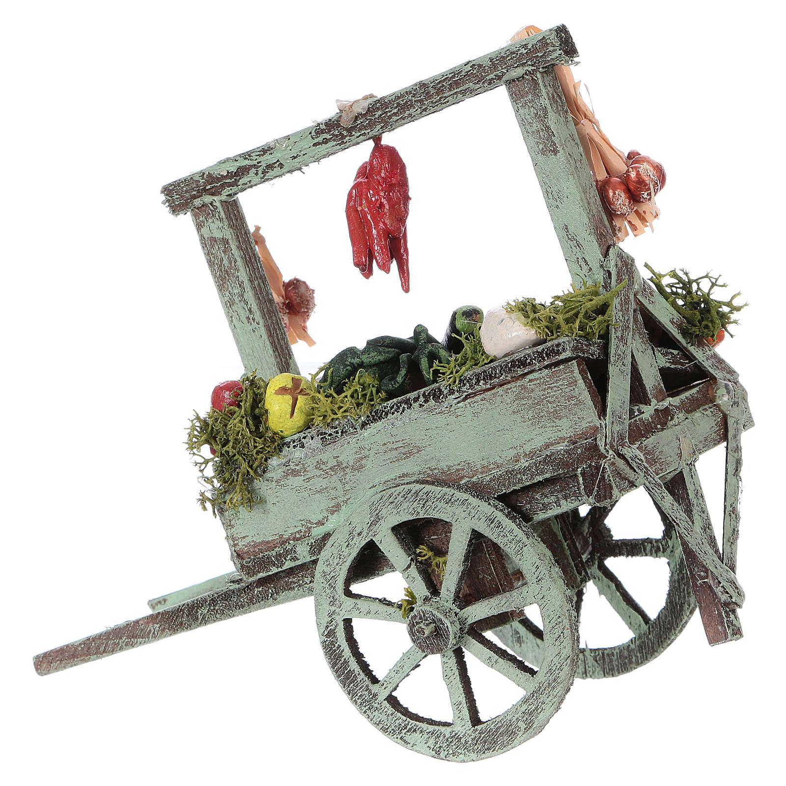 Carro con verdura belén napolitano 15x15x6 cm 4