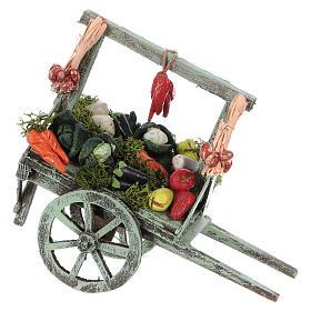 Carro con verdura belén napolitano 15x15x6 cm s1