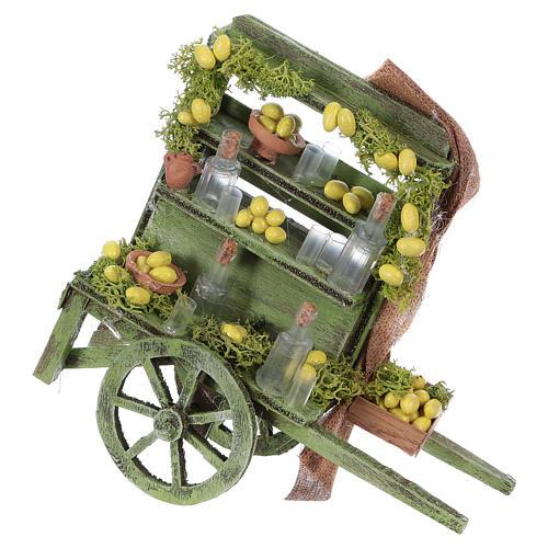 Lemon seller cart Neapolitan Nativity Scene 15x15x6 cm 1