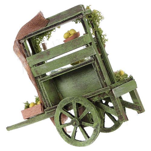 Lemon seller cart Neapolitan Nativity Scene 15x15x6 cm 3