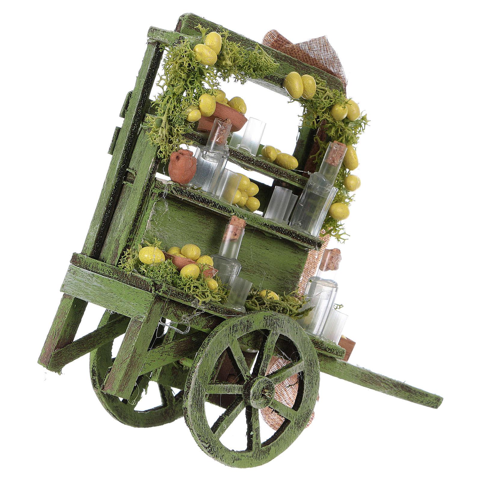 Carro con limones belén napolitano 15x15x6 cm 4
