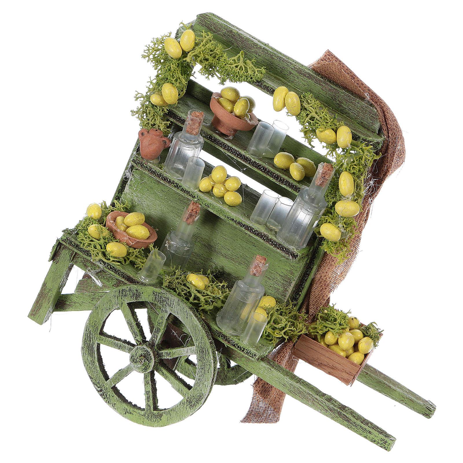 Lemonade cart for Neapolitan Nativity Scene 15x15x6 cm 4