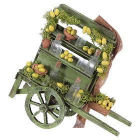 Lemonade cart for Neapolitan Nativity Scene 15x15x6 cm s1