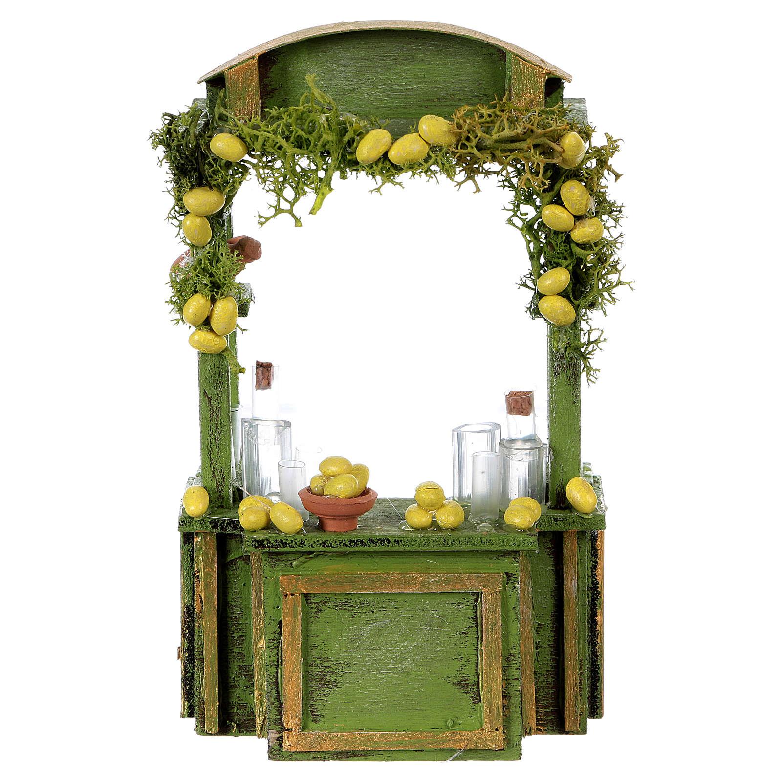 Comptoir limonade h réelle 15 cm crèche napolitaine 4