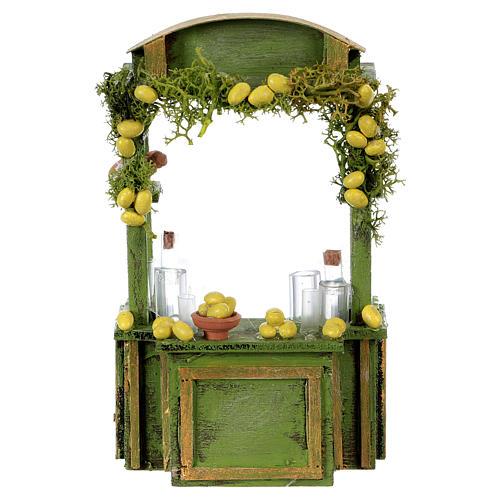 Comptoir limonade h réelle 15 cm crèche napolitaine 1
